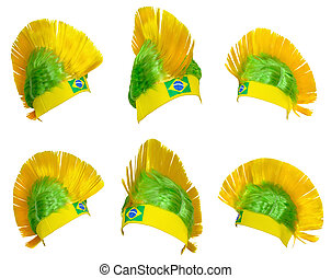 equipe, nacional, brasileiro, ventilador, headgear