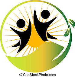 equipe, natureza, logotipo, vetorial