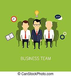 equipe negócio, conceito, arte