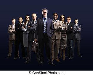 equipe negócio, formado, de, jovem