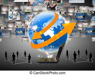 equipe, negócio mundo