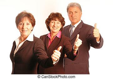 equipe negócio, positivo