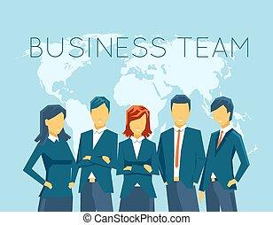 equipe, negócio, recursos humanos