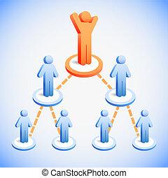 equipe negócio, rede