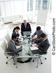 equipe negócio, trabalhe, multi-étnico