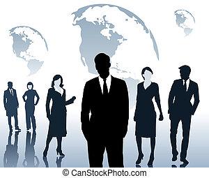 equipe, pessoas negócio