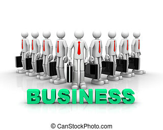 equipe, sucesso, conceito, negócio