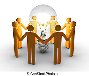 equipe trabalho, idéias