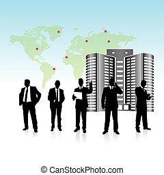 equipe, vetorial, pessoas negócio