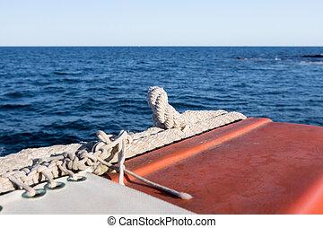 equipement sûreté, sur, les, bateau