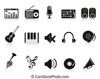 equipement solide, musique, icône