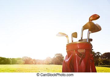 equipment., αναστατώνομαι , επαγγελματικός , γήπεδο γκολφ