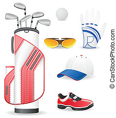 equipment and clothing for golf