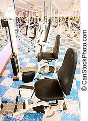 The Empty Modern Gym