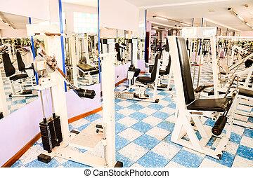 Empty Modern Gym