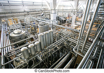 Equipment and piping as found inside of industrial thermal...