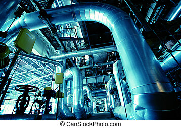 Equipment, cables and piping as found inside of a modern ...