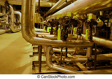 Equipment, cables, machinery and piping