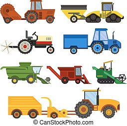 Equipment farm for agriculture machinery harvester