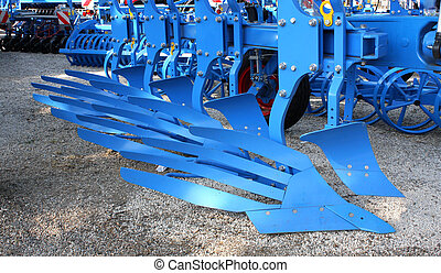 Equipment for agriculture, on agricultural exhibition.