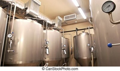 Equipment for beer production, private brewery. Contemporary...