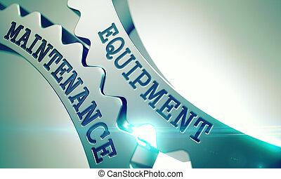 Equipment Maintenance - Mechanism of Metallic Cog Gears. 3D....