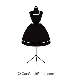 Equipment, mannequin for sewing women's clothing. Sewing and equipment single icon in black style vector symbol stock illustration web.
