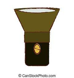 Equipment military flashlight icon image