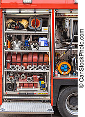 Equipment of a Fire Engine - Hoses, Valves and other...