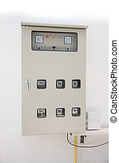 equipment of power system controller in the cabinet.