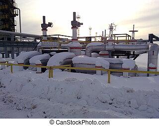 Equipment oil fields of Western Siberia - Oil field. The ...