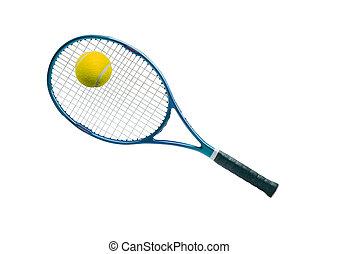 equipment:, schläger, tennisball