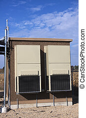 Equipment shelter on the cellular site