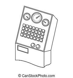 Equipment, single icon in outline style.Equipment, vector symbol stock illustration web.