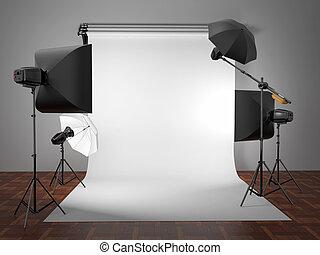 equipment., spazio, text., foto studio