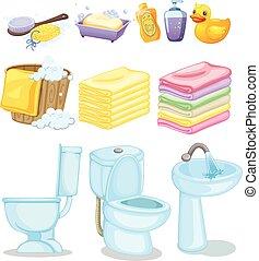 equipments, banheiro, jogo