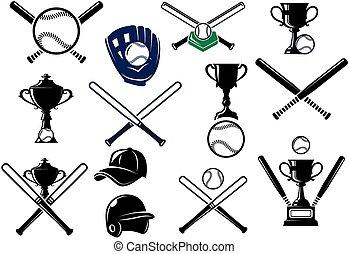 equipments, ensemble, base-ball, sports
