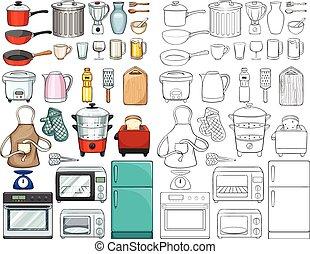 equipments, ferramentas, cozinha