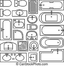 equipments, salle bains