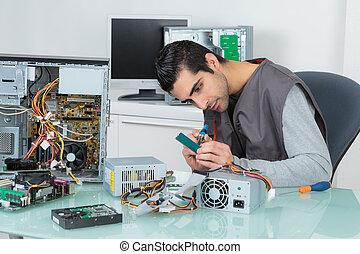 equipo, assembler, eléctrico