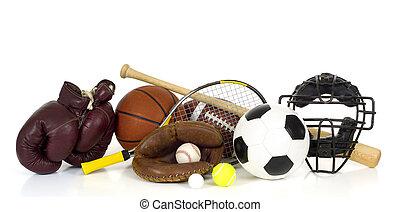 equipo de deportes, blanco