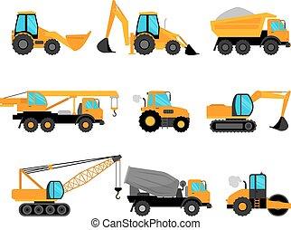 equipo de edificio, maquinaria construcción