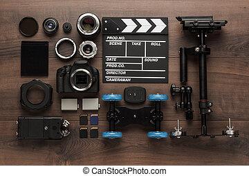 equipo, diferente, vídeo, sobre, vista