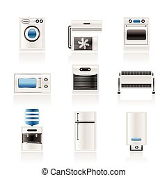 equipo, equipo electrónico de casa, icono