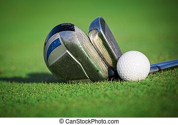 equipo, golf