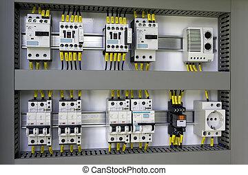 equipo, industrial, eléctrico