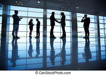 equipo negocio, en, oficina