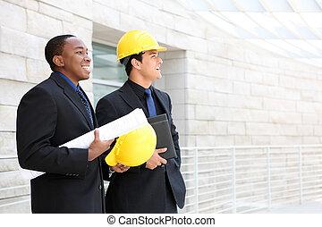 equipo negocio, en, oficina, interpretación el sitio