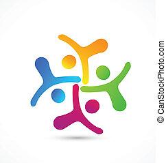 equipo negocio, logotipo