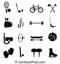 equipo, ocio, deportes